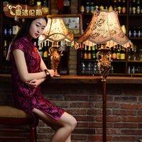 Wholesale Fashion american vintage quality coffee luxury resin led floor lamp vertical lamp