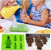baking icing - Cake Mold set Bruilding Bricks For Lego Silicone Mould Baking Tool Mold Chocolate Fondant Topper DIY Ice Soap Cube