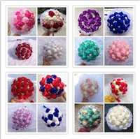 quality silk flowers - Hot Selling Crystal Wedding Bouquet Hand Made Top Quality Artifical Pearl Beaded Brooch Silk Rose Flower Bride Bridal Bouquets Custom Made