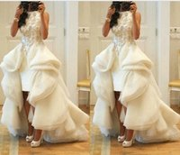 Reference Images A-Line Scoop 2015 Zuhair Murad Prom Dresses Scoop Beads Embroider High Low Evening Gowns Sleeveless Sweep Train Arabic Celebrity Dresses Custom Made