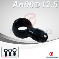 banjo bolt fitting - PQY STORE Aluminum banjo adaptor Bolt AN6 AN an to mm brake fitting Black PQY SL776