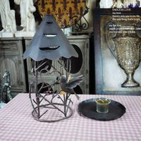 iron candlestick - Vintage Iron Candlestick Candle Holders Home Decor Candlestick Iron Lantern Long Candlestick Wedding Gift Fashion Ornaments Home Accessorie