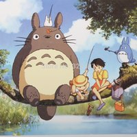 animated cards - X108mm single page poster postcard Miyazaki Hayao Totoro animated cartoon post Birthday greeting gift card