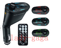 Wholesale LCD Car Kit MP3 Mucsic Player Wireless FM Transmitter Radio Modulator With USB SD MMC Slot Remote