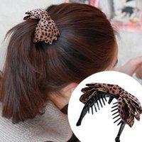 banana grips - Korean pop jewelry hair accessories original headdress hair clip banana twist grip fabric Korean leopard bow gripper