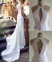 Cheap Real Image High Neck Mermaid Julie Vino Wedding Dresses 2015 Model 7012
