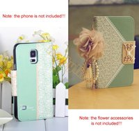 Wholesale New High Quality Green Wallet Card Holder Synthetic Leather Flip Case Cover for Samsung Galaxy S5 b4 SV003141