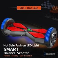 stands - Christmas gift New inch Smart Balance Two Whee lLED scooter Hoverboard Standing Board Self Electric Buletooth LED scooter