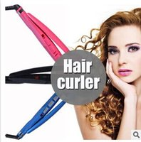 hair packaging - Automatic hair curler curlers roller curling irons Black Blue Pink US EU AU UK plug optional with retail package