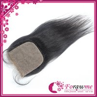 Cheap Brazilian Hair Silk base closure Best Natural Black Straight free part hair closure