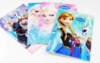 Wholesale Frozen Cartoon quot x4 quot Kids Coloring Book with Stickers Drawing book Children Gift