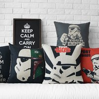 throw pillows square - Throw Pillow Cases Star Wars Pillow Covers Cartoon Minions Cushion Covers Linen Christmas Pillow Case Cushion Cover