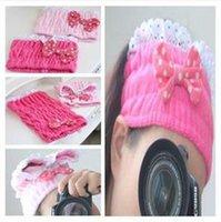 apply face mask - Melody super cute bow apply makeup face mask Lace headband turban hair bands