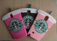 Wholesale 3D Cute Starbuck Coffee Cup Soft Silicon Cases Covers Skins Shields for Samsung Galaxy Note with