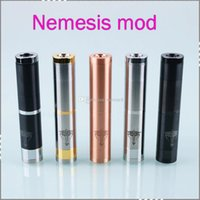 18650 18350 / 18500 / 18650 Mechanical Mods Nemesis Vape Mod 510 thread 18350 18500 18690 Stainless Steel Mod With Retail Box mechanical mod ecig vapor mod