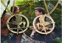 Wholesale The Hunger Games Necklaces Inspired Mockingjay And Arrow Pendant Necklace Authentic Prop imitation Jewelry Katniss Movie
