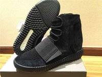 Cheap New Released Final Version Nike Yeezy Boost 750 Ultra Black Grey Color with Original box Men Basketball Shoes