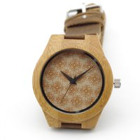 wood watches wholesale - Newest Quartz Bamboo Watch Wooden Casual Watches Genuine Leader Band Luxury Watch Wood Wristwatches Japan Movement Idea Wood Gifts Box