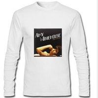 amy winehouse back to black - New Fashion Custom Men s Clothing Men Long Sleeve T Shirt Back to Black Amy Winehouse Cotton Print T Shirt Man