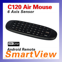 Wholesale 1pcs C120 Air Mouse T10 GHz G Mouse Rechargeable Wireless GYRO Air Fly Mouse and Keyboard Combo for Android TV Box HTPC