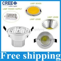 Wholesale Ultar Bright COB w Recessed Led Downlights AC V Led Down Lights Warm Cool White Power Drivers