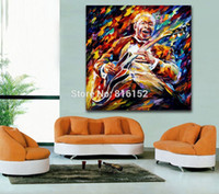 bb pictures - Palette Knife Painting Jazz Musician BB King Picture Printed On Canvas For Home Office Hotel Wall Decor Art