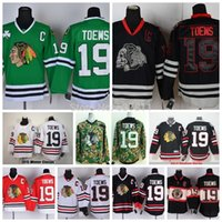 Ice Hockey chicago - Cheap Men s Chicago Blackhawks Ice Hockey Jerseys Jonathan Toews Jersey St Patty s Day Green Stitched Jerseys with C Patch