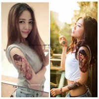 beauty owl - Exclusive and original tattoos waterproof beauty owl wolf flower arm rose sexy tattoo sticker