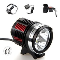 Wholesale 6000 Lumen x CREE XM L2 LED Cycling Front Bicycle Bike light Headlight mAh Battery