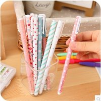 Wholesale 5 New Cute Cartoon Colorful Sweet Gel Pen Set Kawaii Korean Stationery office school supplies Gift