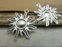 antique god - X28mm Metal Alloy Antique Silver Sun God Charms Pendant DIY Fashion Jewelry Accessory