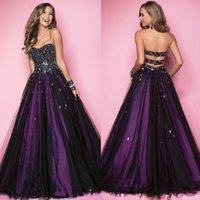almond white chocolate - 2016 Latest Blue Purple Almond Women Evening Dresses Ball Gown Organza Sweetheart With Heavy Crystal Sexy Back Zipper Prom Pageant Gowns New