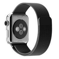 band magnets - 1 Original Design Black Gold Color Magnetic Milanese Loop Watch Band For Apple Watch iWatch Metal Magnet Strap Connector Adapter Free DHL
