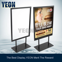 Wholesale YEON metal tabletop sign board stand rack menu holder customize any size any style MOQ bulk order available