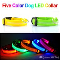 light up products - LED Nylon Pet Dog Collar Night Safety LED Light up Flashing Glow pet products in the Dark