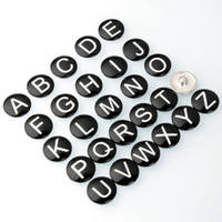 Wholesale DIY Initial English A Z Alphabet noosa Snaps mm Letter Snap Button Jewelry for Ginger Snap Charm Bracelet Jewelry