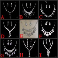 unique jewelry - Big Discount Unique Wedding Bridal Bridesmaids Rhinestone Black Bracelet Jewelry Set for Party Prom