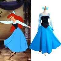 ariel costume - Princess Ariel Dress from sleeping beauty Movie Cosplay Costume L005