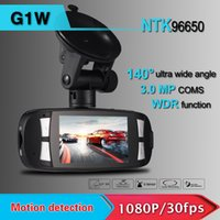 avc recorder - 2015 new Arrival Original Car dvr Video Recorder G1W GS108 with Novatek WDR Technology AVC P FPS G Sensor quot LCD DHL Free