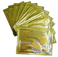 Wholesale 2016 High quality Anti Wrinkle NEW Crystal Collagen Gold Powder Eye Mask Golden Mask stick to dark circles