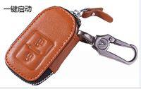 Wholesale Genuine Leather Car Key Case Remote control Key Cover For Honda Jade