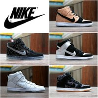 Cheap Nike Dunk High Premium SB Flash 3M sneaker boot Cork nike dunk SB Cork sports skating shoes white Ice yeezy athletic 6 colors free shipping