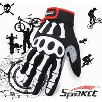 Wholesale Mountain Bike full finger gloves genuine ghost skull Spakct Sipa off riding gloves WG273