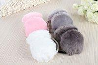 Wholesale NEW Simulation of rabbit fur earmuffs Warm Plush Earmuff Winter Cold Ear Cover Hats And Super Ultra Warm Plush Earmuffs