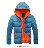 Wholesale new fashion Winter men jackets jacket warm coat Mens Coat Brand Sport Jacket Winter Down Parkas Man s Overcoat Size M XL