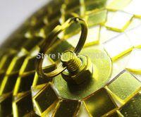 abc auto - cm diameter Gold hand made glass rotating mirror ball quot disco DJ party lighting ABC MB cm Gold