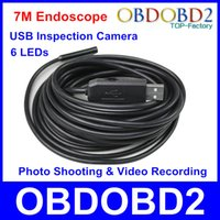 Wholesale High Quality Waterproof Endoscope USB Inspection Camera Borescope M Cable Adjustable LEDs Photo Shooting Video Recording