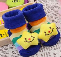 Wholesale MIC Newborn Baby Unisex Anti slip Socks Animal Cartoon Shoes Slipper Boots month