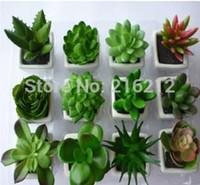 artificial cactus - Decorative flower pots planters artificial plants with vase bonsai tropical cactus fake succulent plant potted on the desk