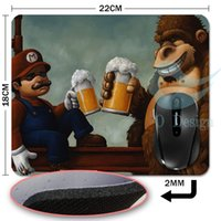 beer pad - Case mouse pad Office Mouse Pad diamond and Mario drink beer interesting